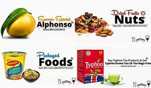 Food & Grocery (Tea-Coffee, Dry Fruits, Oil, Spices, Bakery, Rice, Pulses & more) : Upto 50% Off + Extra 30% Paytm Cashback @ Paytm