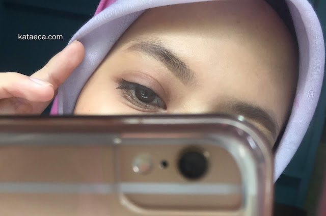 hasil pakai Wardah Eyebrow Kit