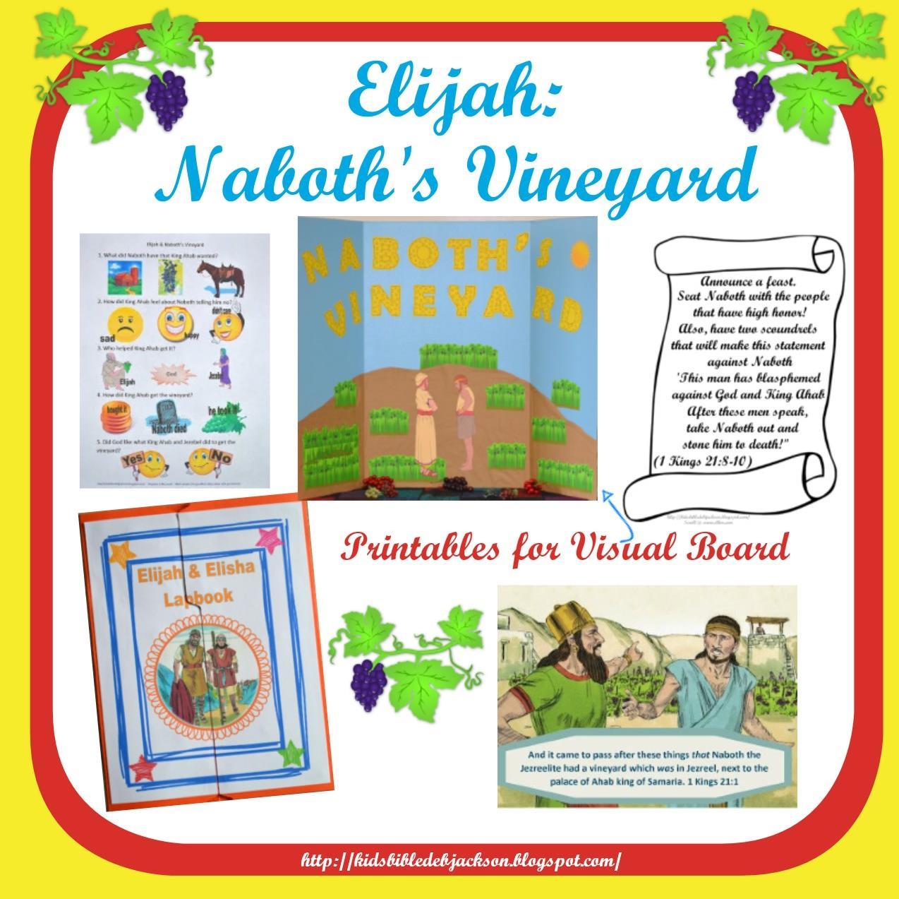 Bible Fun For Kids 3 3a Elijah And Naboth S Vineyard