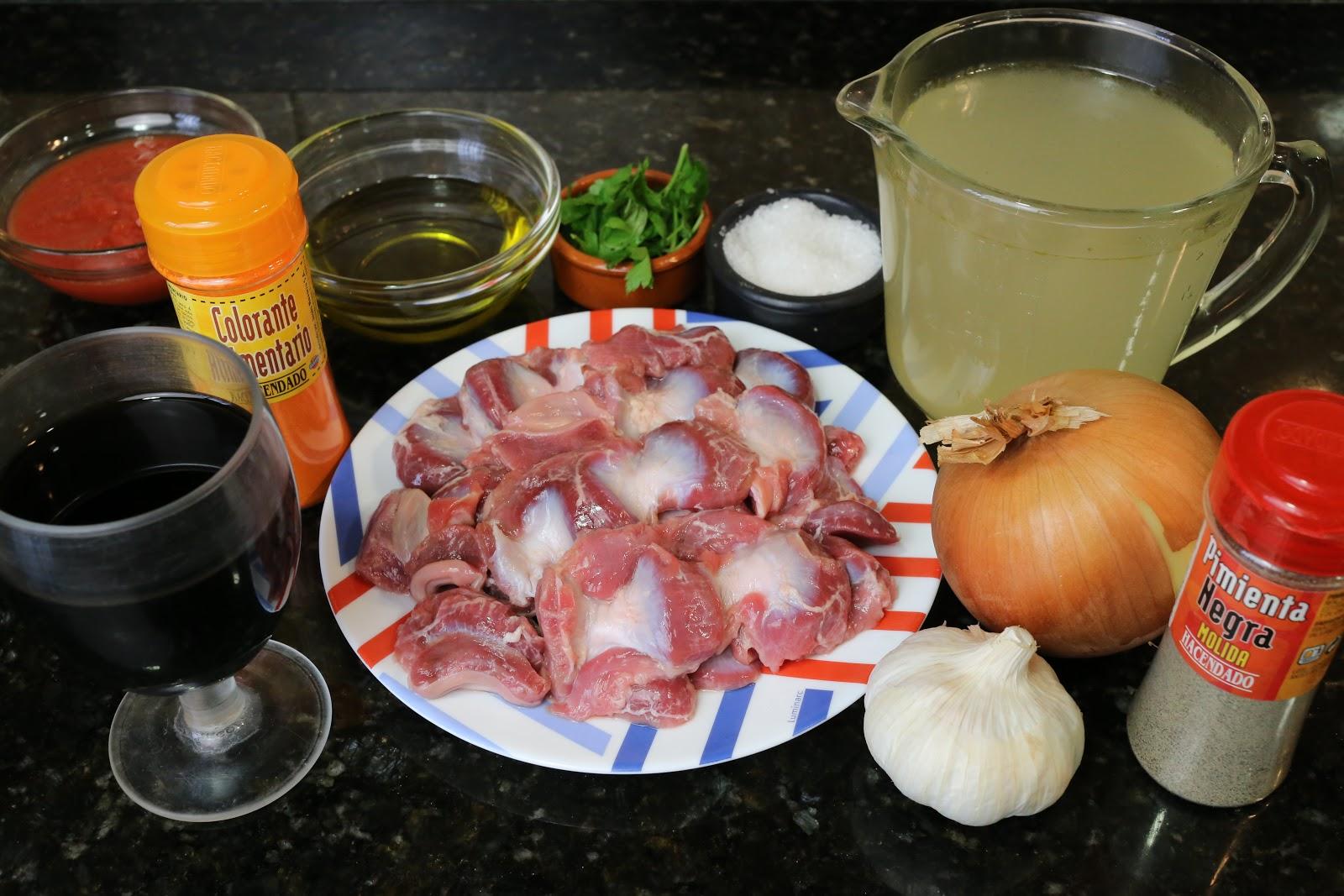 Cocina Andaluza Mollejas De Pollo En Salsa