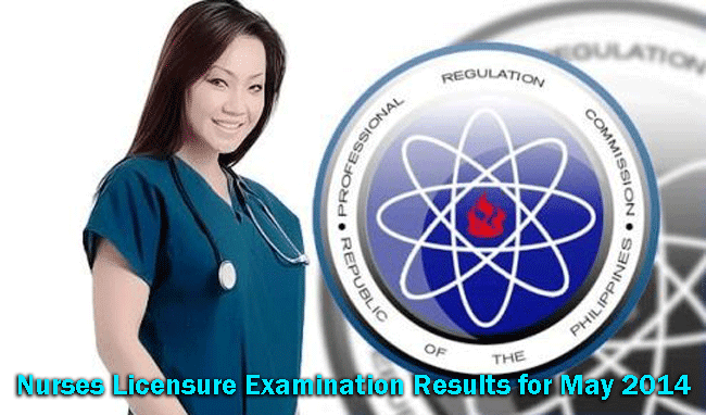 Nurses Licensure Examination Results for May 2014