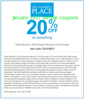 Online coupon codes for children's place