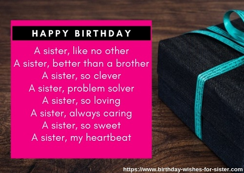 Happy birthday poem for Sister Image
