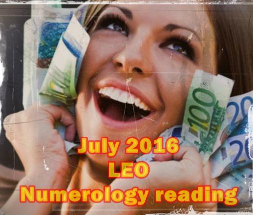 July 2016 LEO Numerology lucky reading