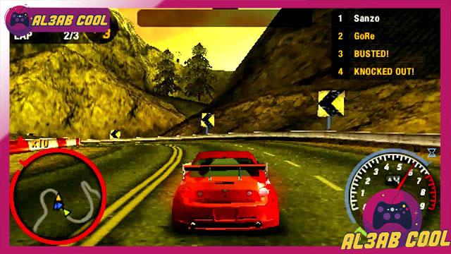 تحميل لعبة Need for Speed Most Wanted psp بصيغة iso مضغوطة بحجم صغير mediafire