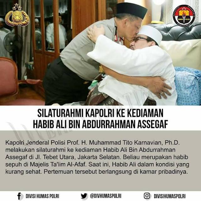 Kapolri Tito: Habib Ali bin Abdurrahman Assegaff Seperti Orang Tua Bagi Saya