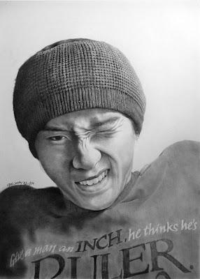 dibujo artístico realista a lápiz