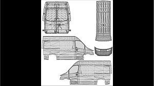 Mercedes Sprinter 2014 Template