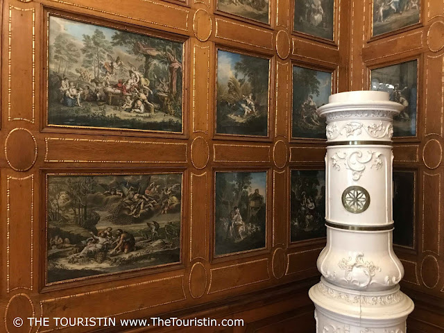 Art and Fireplace at the Mirbach Palace in Bratislava in Slovakia