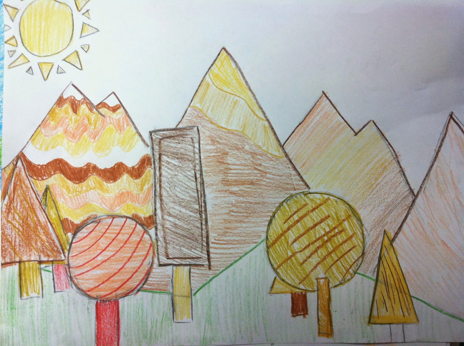 Mrs Wille S Art Room Landscape Drawing Using Only
