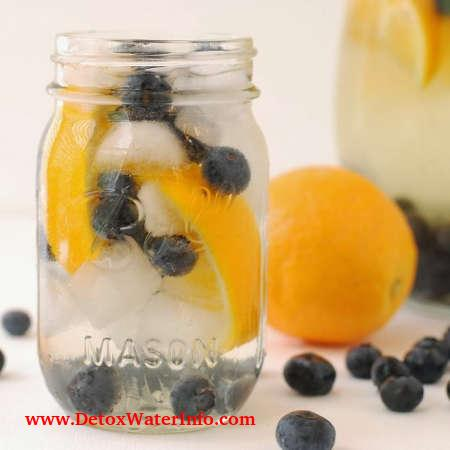 Infused Blueberry orange water