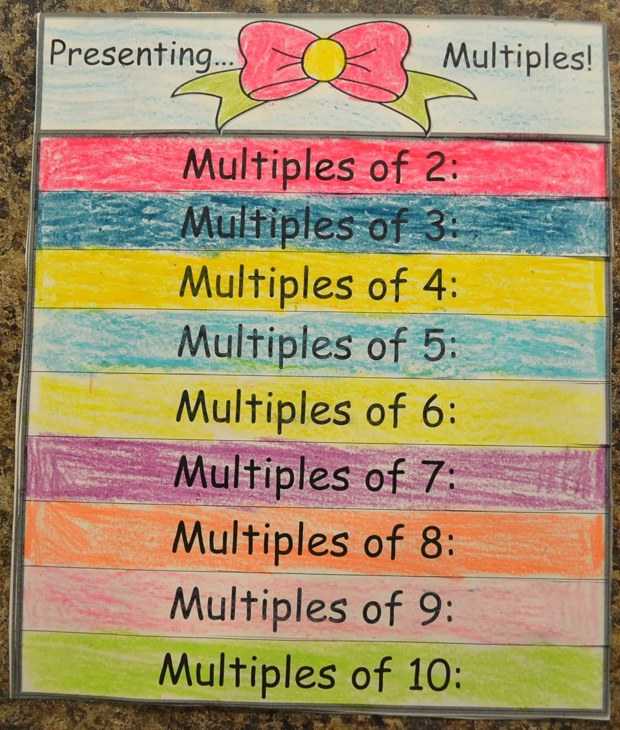 Love2learn2day Factors Amp Multiples Flap Books Amp Online Games