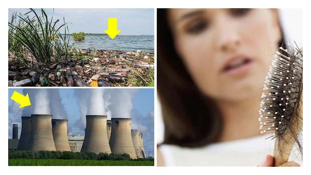 La contaminación del aire causa la caída del cabello