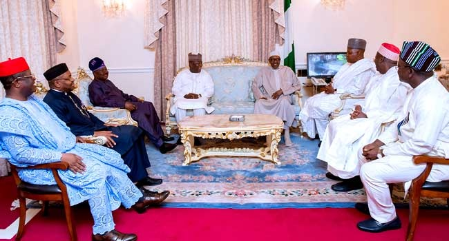 Buhari Welcomes 7 Governors In UK