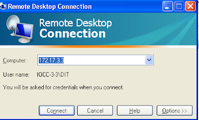 Connect another Computer through Remote Desktop Connection