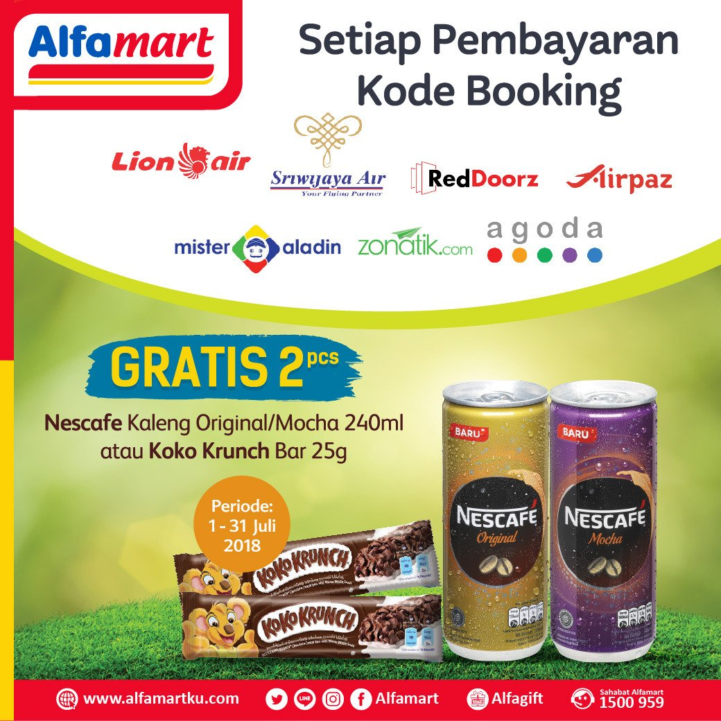 Alfamart - Promo Gratis Produk Setiap Pembayaran Kode Booking