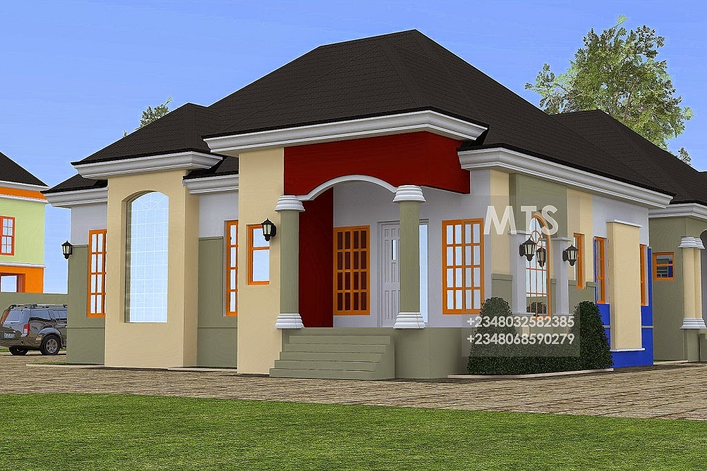 Mr ejike 3 bedroom 2 bedroom bungalow residential for Beautiful 5 bedroom house plans with pictures