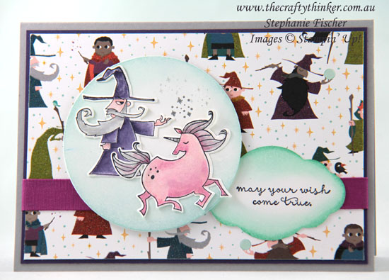 #thecraftythinker, #stampinup, #cardmaking, #unicorn, Magical Day Bundle, Myths & Magic, unicorn, youth card, Stampin' Up! Australia Demonstrator, Stephanie Fischer, Sydney NSW