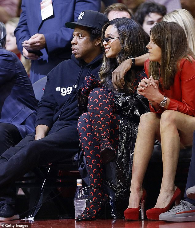 Beyonce and Jay-Z spotted at an NBA game in Houston