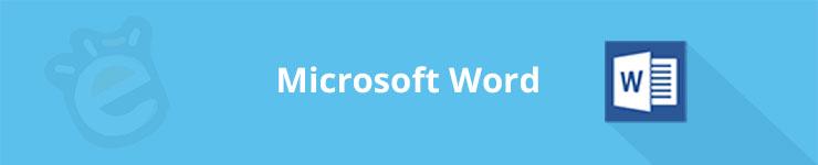 banner microsoft word