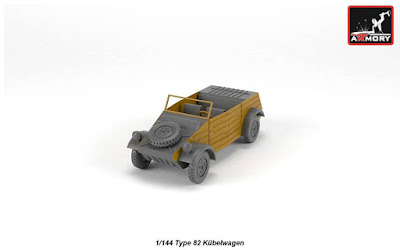 AR M14201 - 1/144 VW Type 82 Kubelwagen, resin kit w/ PE parts picture 3