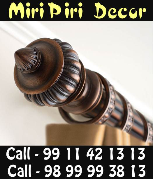 Wooden Curtain Rods And Finials Side Mount Rod Decorative India