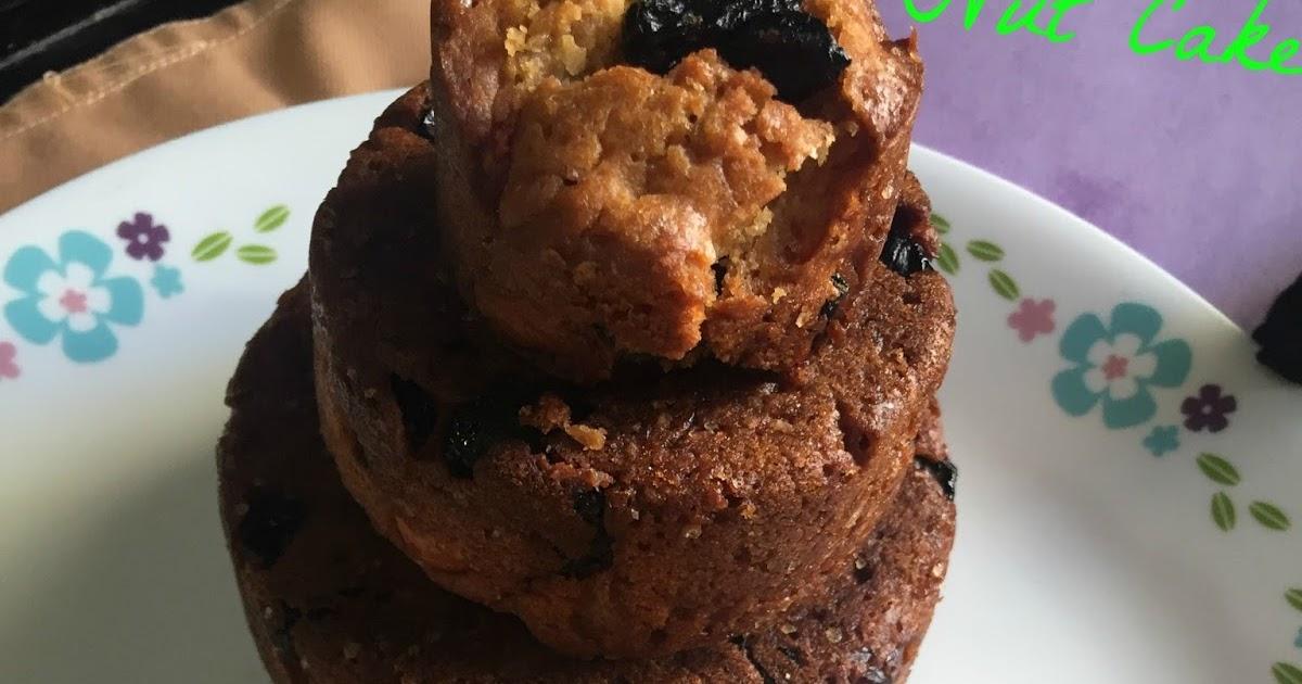 Cherry Nut Cake With Sour Cream