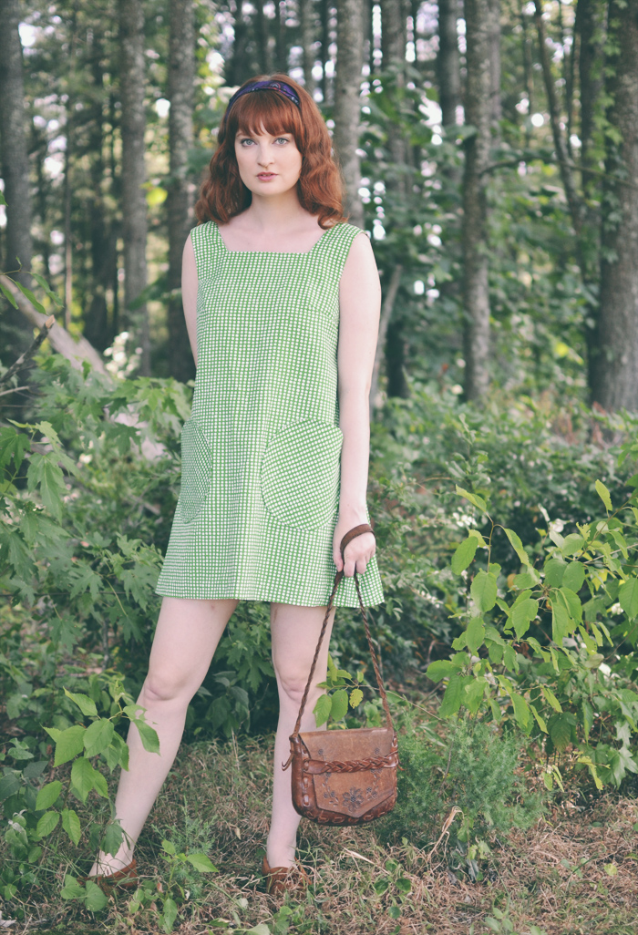The Flying Clubhouse: Green Mod Tent Dress