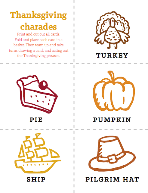graphic about Charades for Kids Printable referred to as Meredith Performs: Thanksgiving Working day Charades