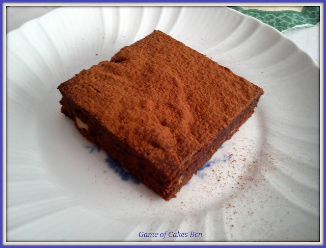 Ración de Brownie de chocolate y nueces
