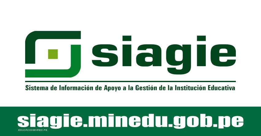 SIAGIE: Comunicado «Rectificación de Actas de Evaluación» www.minedu.gob.pe