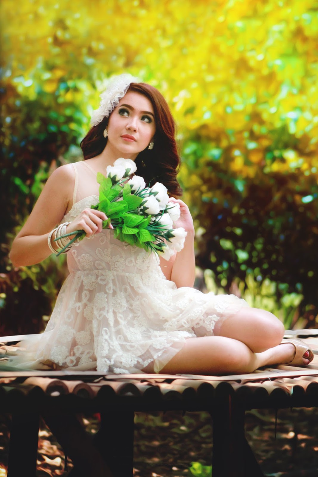 konsep foto Model Winny Valencia pengantin seksi dan hot