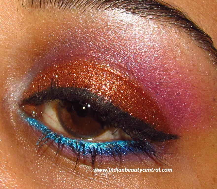 Sparkly eye makeup