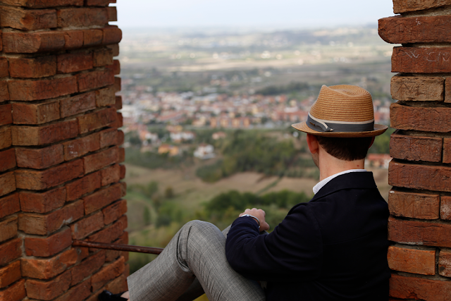 Paul Looking at Views over San Miniato Tuscany Italy