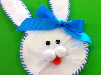 hershey kiss filled felt easter bunny candy pocket with bow