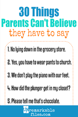 As a mom I can't believe the funny things I've found it necessary to say out loud. Life with kids is weird, and packed full-on facepalm moments. #momlife #parentinghumor