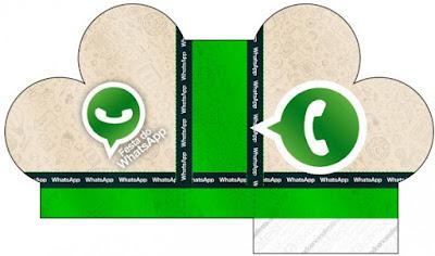Caja abierta en forma de corazón de WhatsApp.