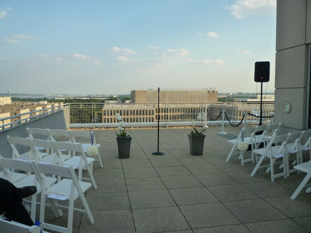 The Ceremony Was In A Great Spot On Shady Side Of Building And Just Time For Heat To Calm Down Bit They Wanted Evening