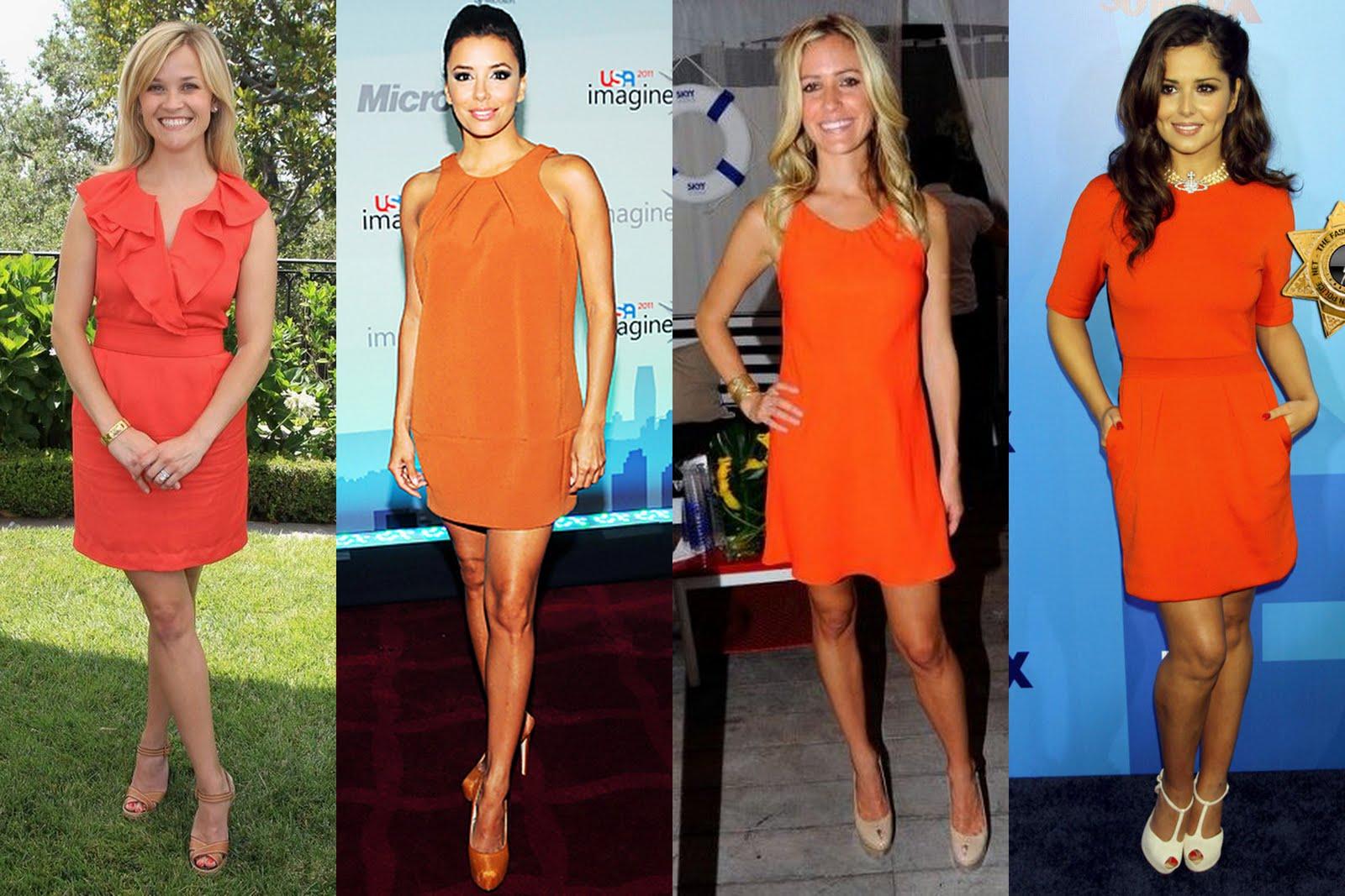 The Orange Dress Trend