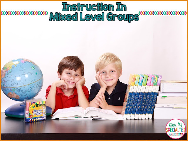 Meeting everyone's needs in a mixed level grouping IS possible and schedule friendly!! Here are some examples of how I run an instructional group where students are at different skill levels. These ideas are perfect for special education classrooms, speech therapists, and homeschoolers.