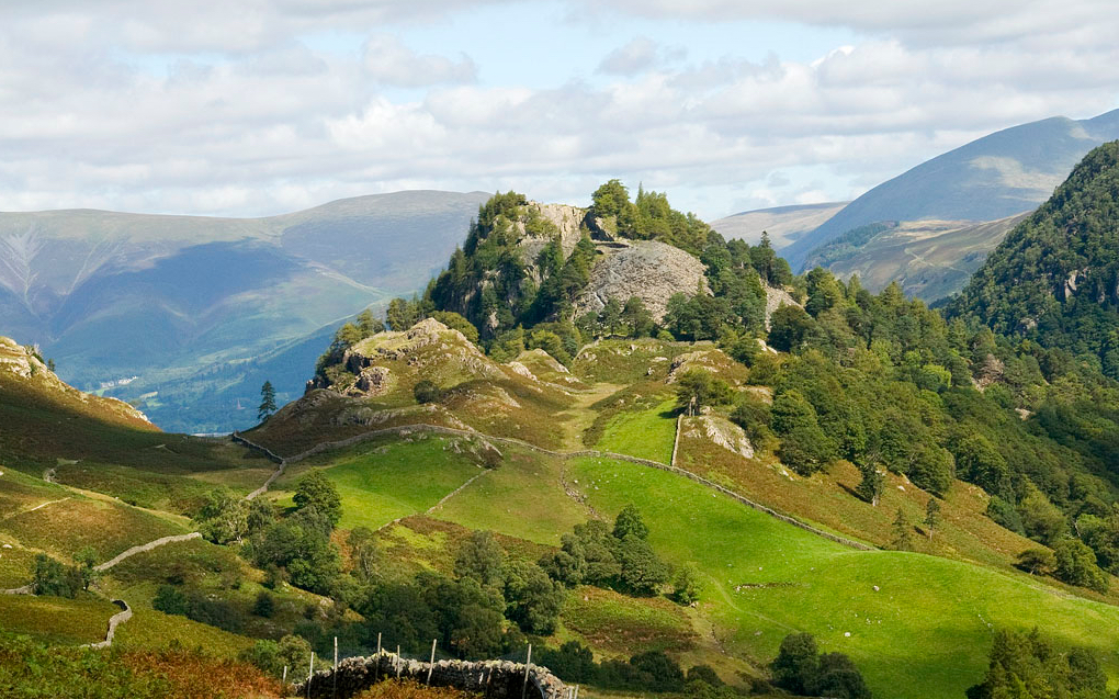 The rocky, scenic Castle Crag - Lake District walks for beginners