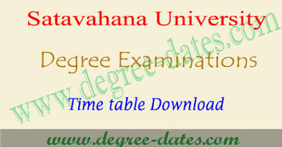 SU degree 2nd sem time table 2018 Satavahana University ug exam dates pdf