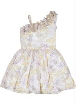Vestido Infantil Flores Lilica Ripilica Bege