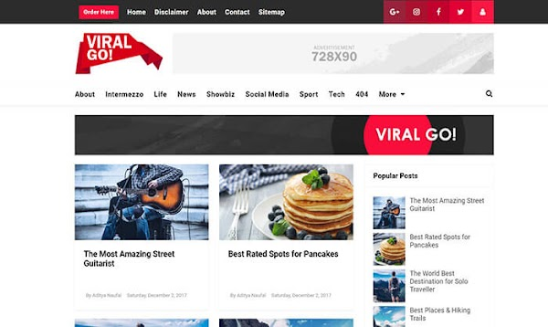 Chia sẻ Viral Go Blogger Template
