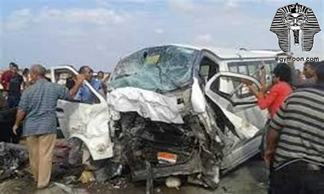 إصابة اثنين ومصرع شخص  فى تصادم سيارتين نقل بطريق العين السخنة