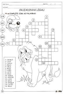 Atividade alfabetização com a letra L