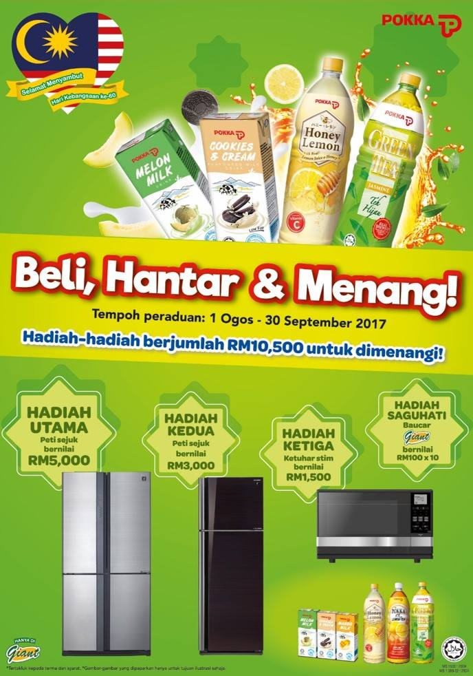 POKKA Malaysia, Giant, Contest, Merdeka Day, Hari Kebangsaan, Peraduan, Kaki Contest, menang besar, Rawlins GLAM,