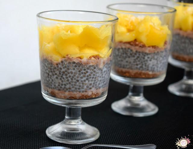 Pudding de chia y mango