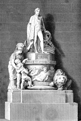 Monument erected in St Paul's Cathedral to the memory of Nelson from the European  Magazine and London Review (1818)