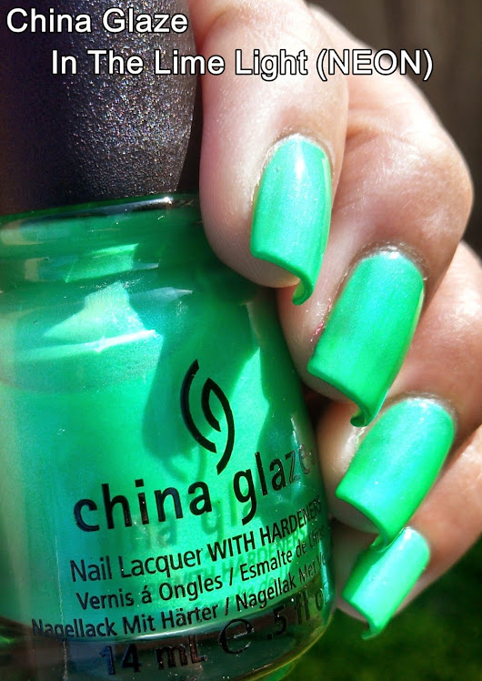 China Glaze | In The Lime Light (NEON)